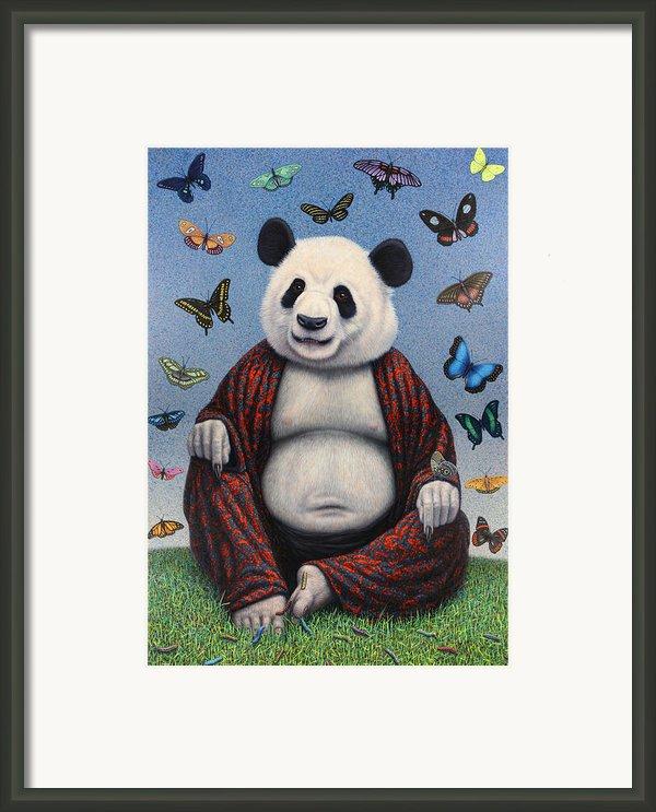 Panda Buddha Framed Print By James W Johnson