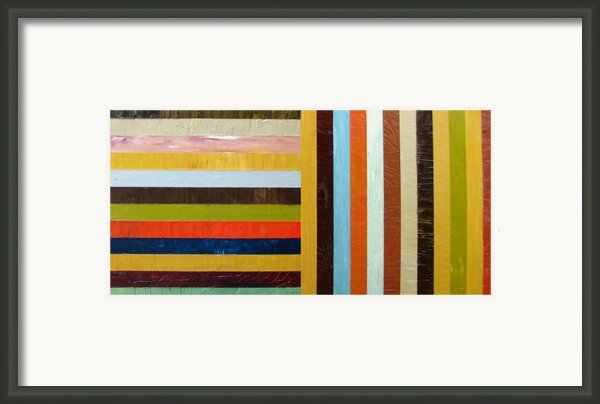 Panel Abstract L Framed Print By Michelle Calkins