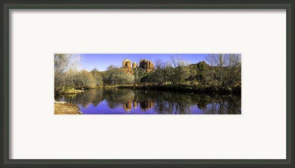 Panorama At Red Rocks Crossing In Sedona Az Framed Print By Teri Virbickis
