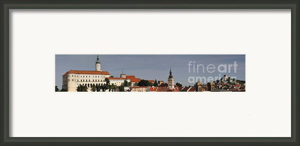 Panorama - Mikulov Castle Framed Print By Michal Boubin