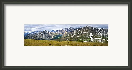 Panorama Of Rocky Mountains In Jasper National Park Framed Print By Elena Elisseeva