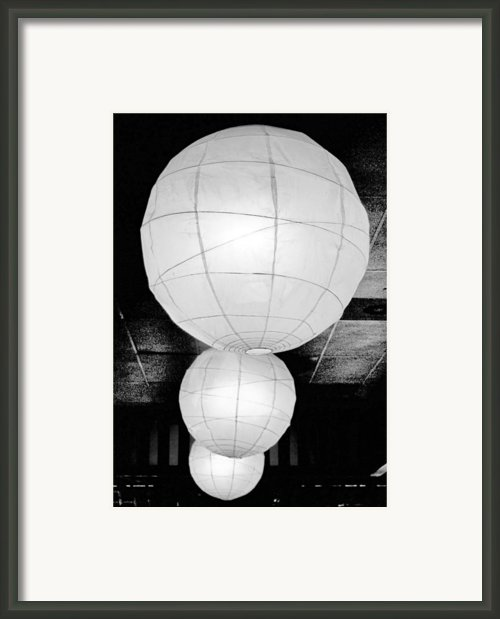 Paper Lampshades Ii Framed Print By Bob Wall