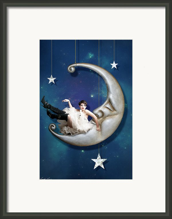 Paper Moon Framed Print By Linda Lees