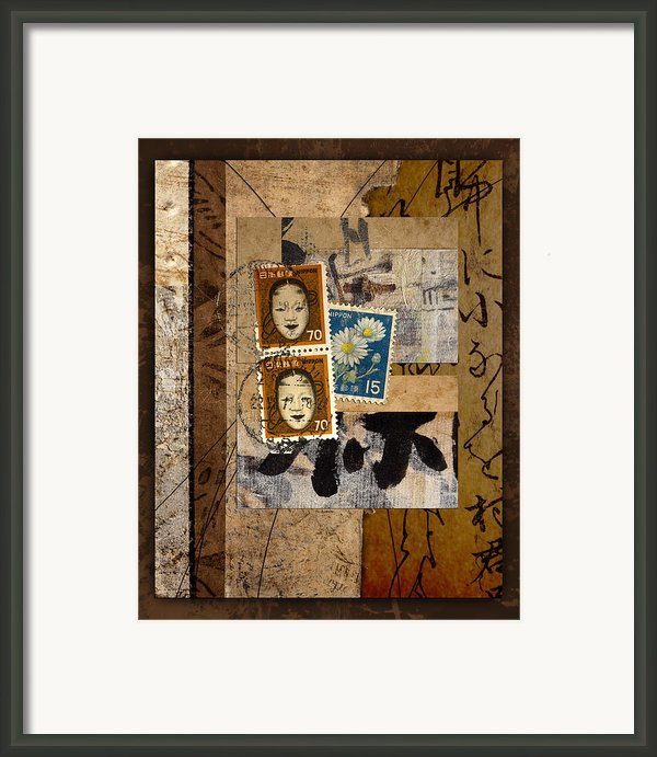 Paper Postage And Paint Framed Print By Carol Leigh