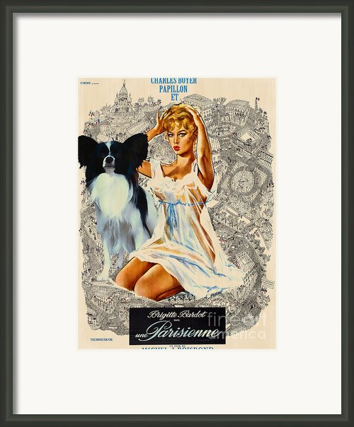 Papillon Art - Una Parisienne Movie Poster Framed Print By Sandra Sij