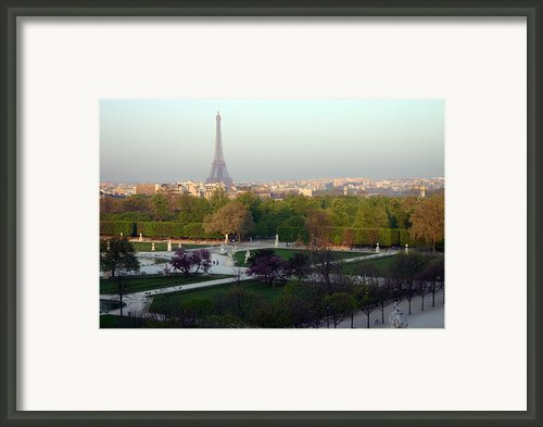 Paris Autumn Framed Print By A Morddel