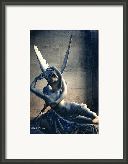 Paris Eros And Psyche Romantic Lovers - Louvre Museum Sculpture Eros And Psyche  Framed Print By Kathy Fornal