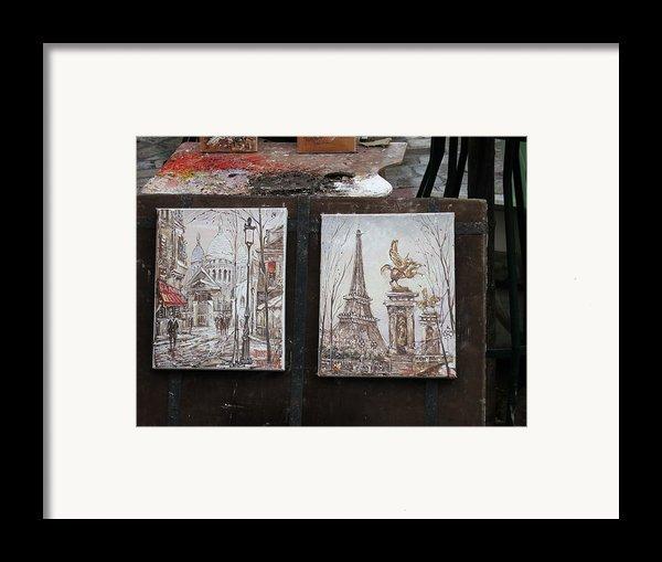 Paris France - Street Scenes - 121225 Framed Print By Dc Photographer