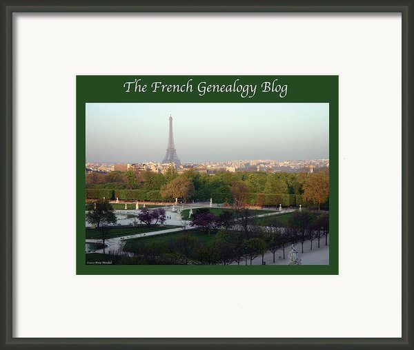 Paris In The Fall With Fgb Border Framed Print By A Morddel