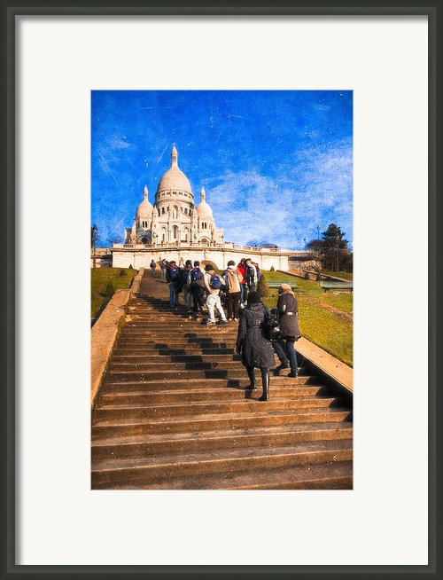 Paris - The Long Climb To Sacre Coeur Framed Print By Mark E Tisdale