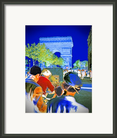 Parisian Artist Framed Print By Chuck Staley