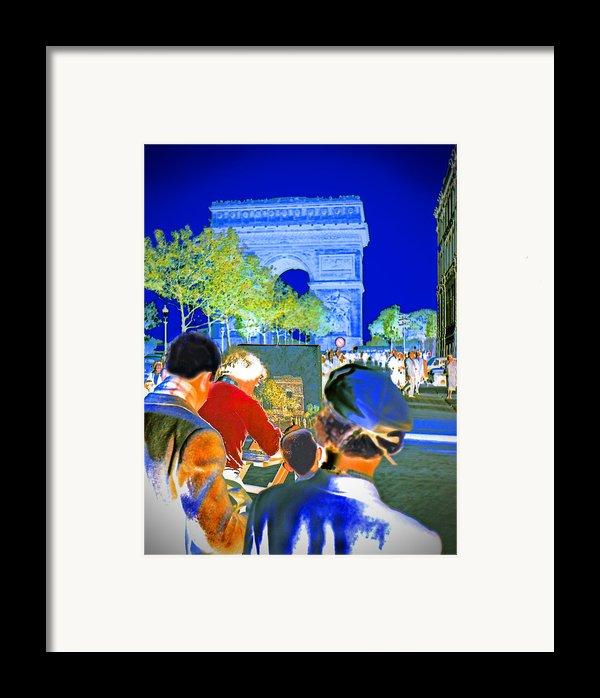 Parisian Artist Framed Print By Chuck Staley