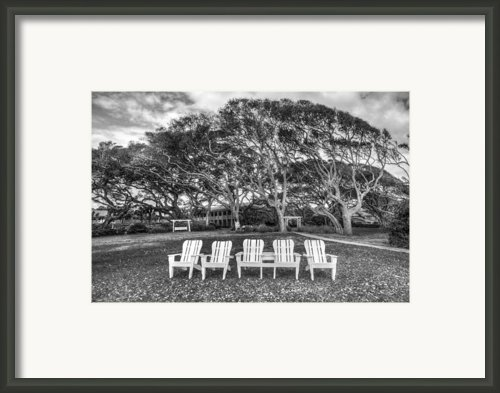 Park Under The Oaks Framed Print By Debra And Dave Vanderlaan