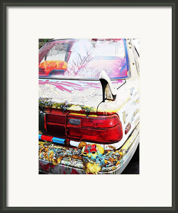 Parked On A New York Street Framed Print By Sarah Loft