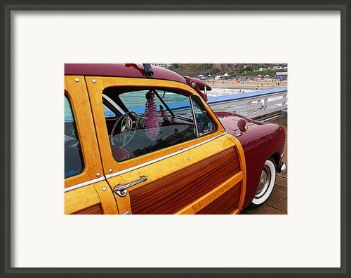 Parked On The Pier Framed Print By Ron Regalado