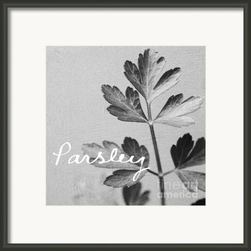 Parsley Framed Print By Linda Woods
