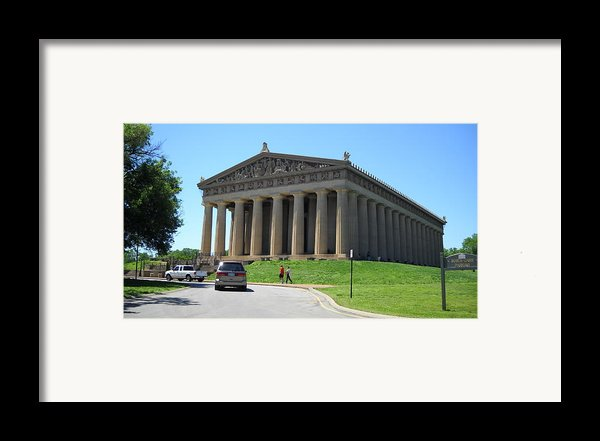 Parthenon In Nashville Framed Print By Paula Talbert
