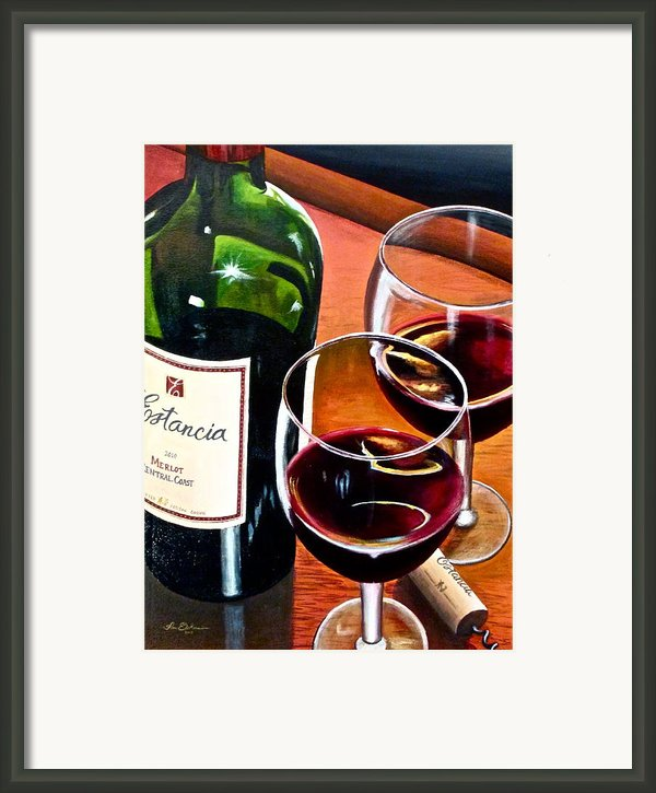 Party Of Two Framed Print By Tim Eickmeier