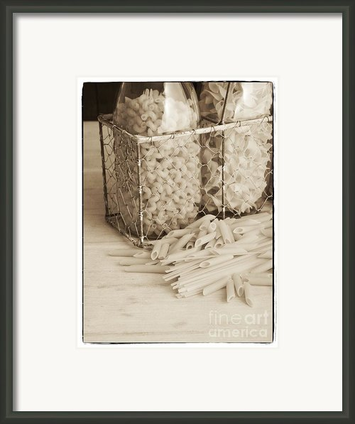 Pasta Sepia Toned Framed Print By Edward Fielding