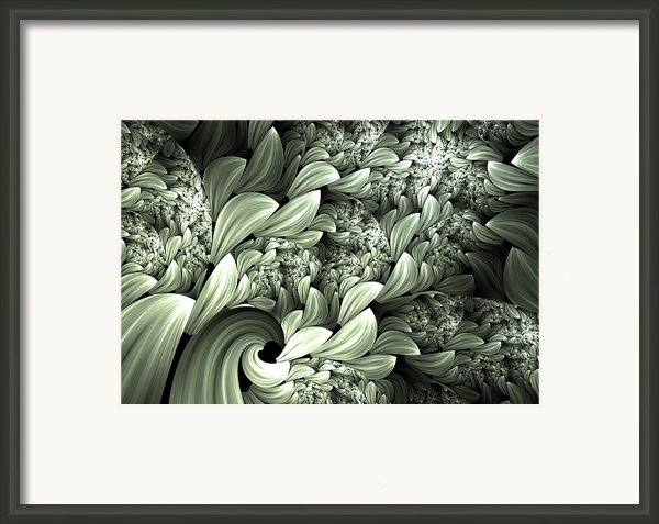 Pastel Garden Abstract Framed Print By Zeana Romanovna
