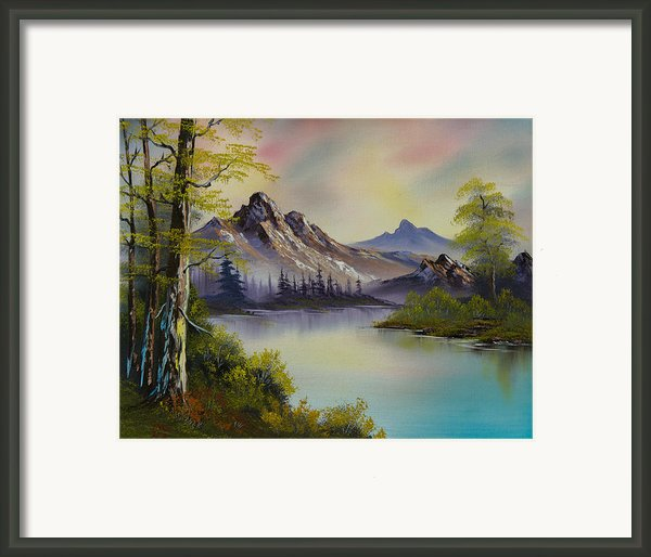 Pastel Skies Framed Print By C Steele