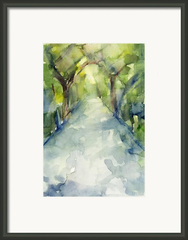 Path Conservatory Garden Central Park Watercolor Painting Framed Print By Beverly Brown Prints