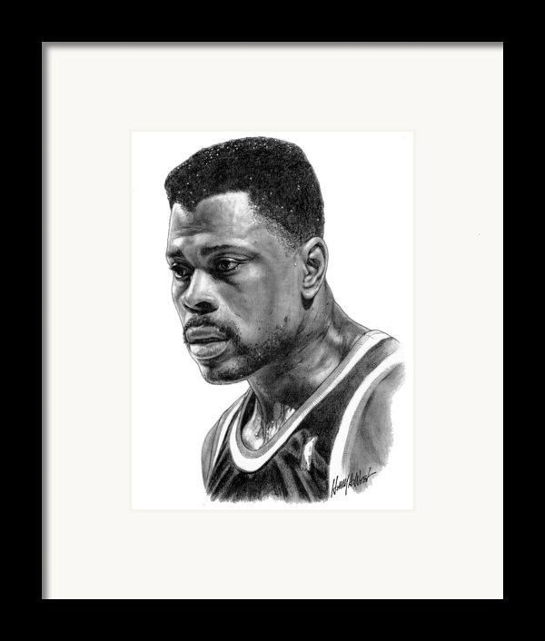 Patrick Ewing Framed Print By Harry West