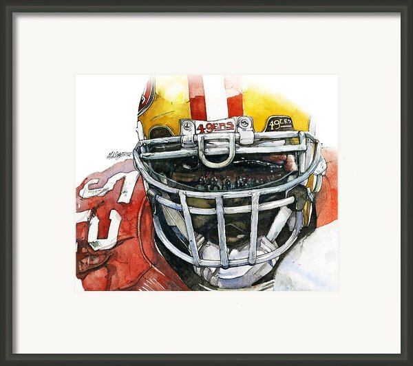 Patrick Willis - Force Framed Print By Michael  Pattison