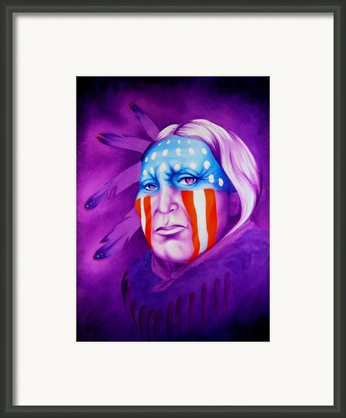 Patriot Framed Print By Robert Martinez