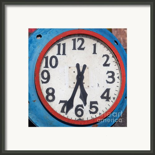 Patriotic Clock Framed Print By Art Block Collections