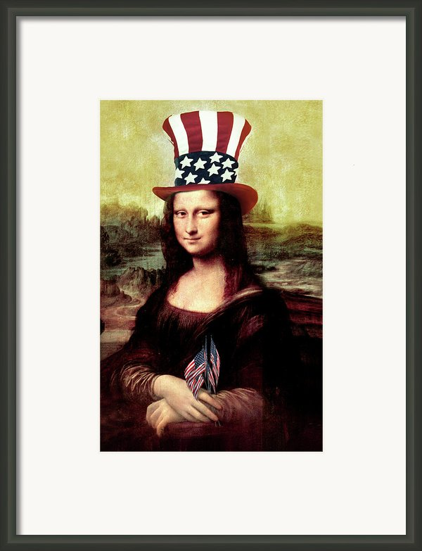 Patriotic Mona Lisa Framed Print By Gravityx Designs