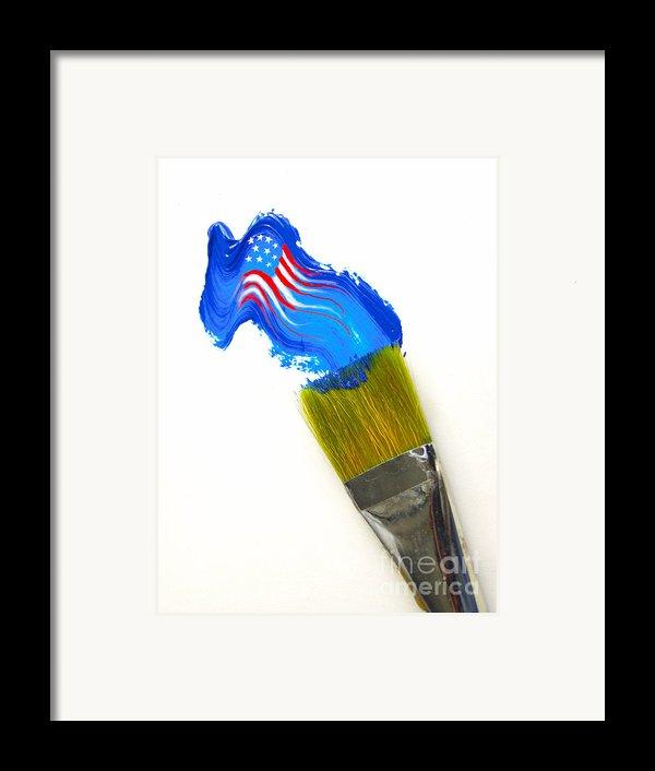 Patriotic Paint Framed Print By Diane Diederich