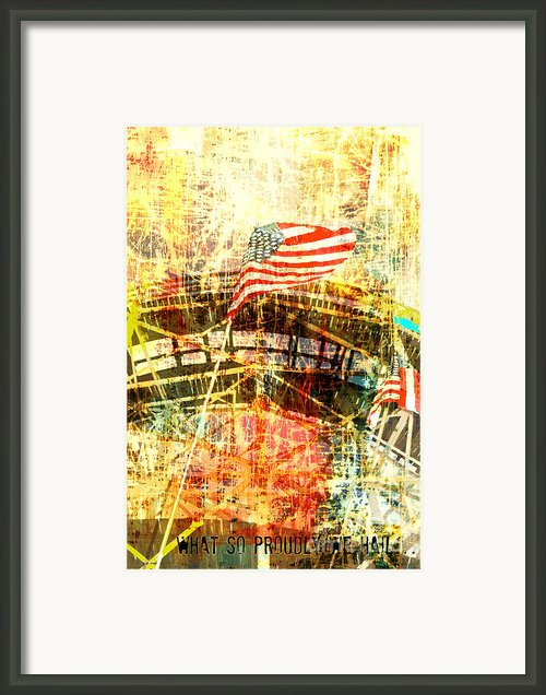 Patriotic Roller Coaster Framed Print By Anahi Decanio