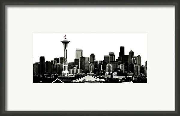 Patriotic Seattle Framed Print By Benjamin Yeager