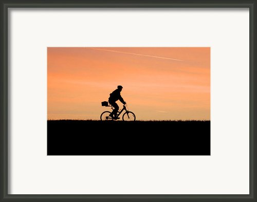 Patrolling The Levee Framed Print By Gene Walls