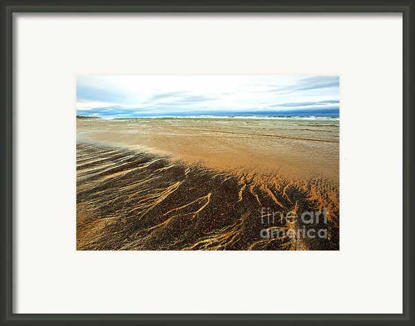 Patterns In The Tides Framed Print By Artist And Photographer Laura Wrede