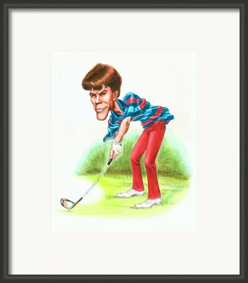 Paul Azinger Framed Print By Harry West