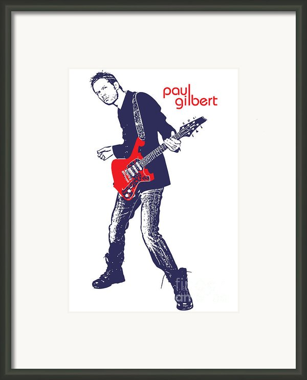 Paul Gilbert No.01 Framed Print By Caio Caldas