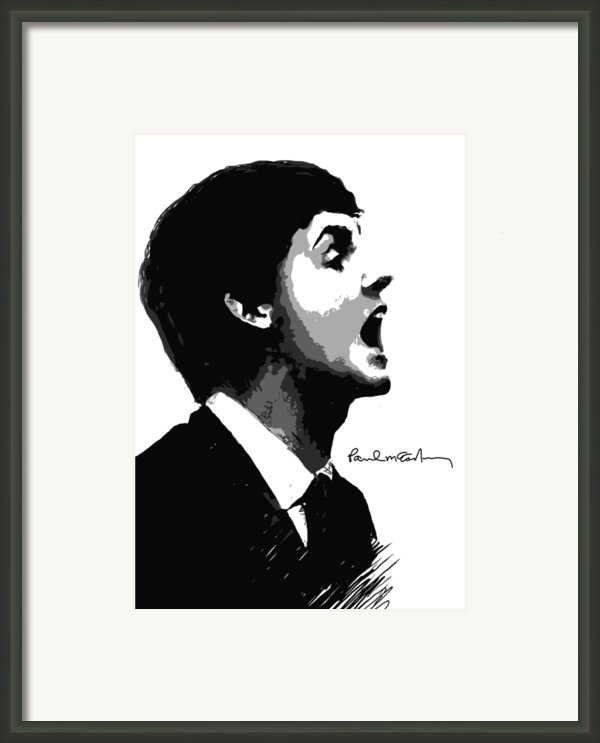 Paul Mccartney No.01 Framed Print By Caio Caldas
