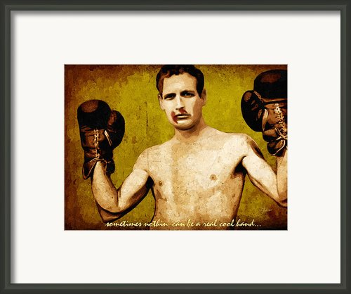 Paul Newman Cool Hand Luke  Framed Print By Dancin Artworks