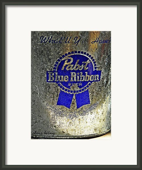 Pbr  Bucket O Beer  Framed Print By Chris Berry