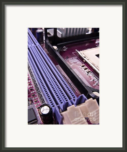 Pc Motherboard Framed Print By Jose Elias - Sofia Pereira
