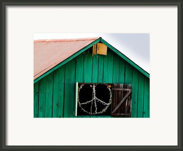 Peace Barn Framed Print By Bill Gallagher