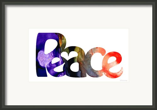 Peace Full 1 Framed Print By Sharon Cummings