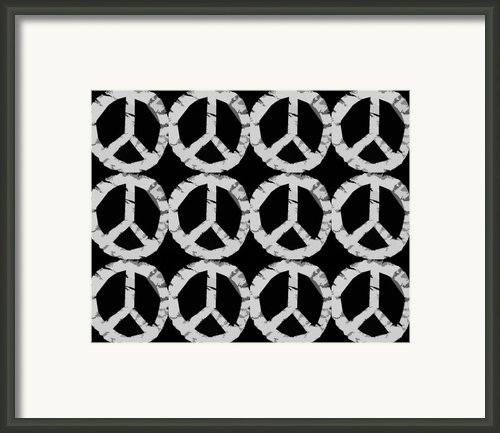 Peace In Black And White Framed Print By Michelle Calkins