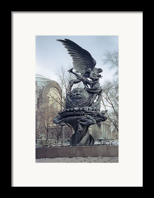 Peace Sculpture In New York Framed Print By Daniel Hagerman