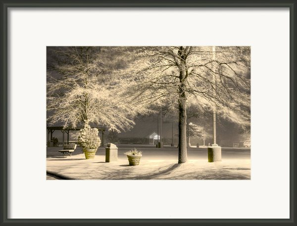 Peaceful Blizzard Framed Print By Jc Findley