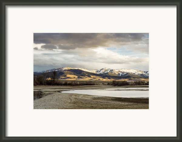 Peaceful Day In Helena Montana Framed Print By Dana Moyer