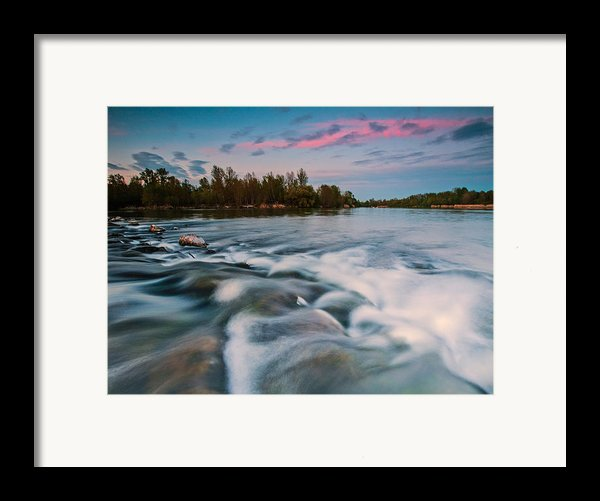 Peaceful Evening Framed Print By Davorin Mance