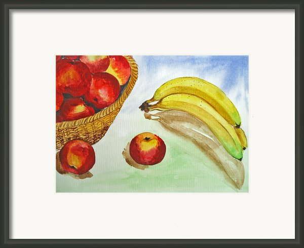 Peaches And Bananas Framed Print By Shakhenabat Kasana